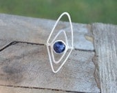 Sterling Silver Lapis Lazuli Size 7-8 Ring Fine Silver Smith