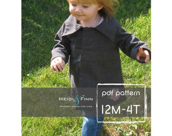 SweetPea Fall coat jacket pattern and tutorial 12M-4T EASY SEW epattern