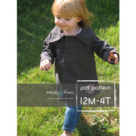 SweetPea Fall coat jacket pattern and tutorial 12M-4T EASY SEW epattern