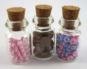 Dollhouse Miniature Food 3 Candy Jars in 12th Scale
