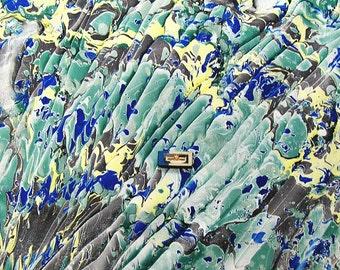 """hand marbled canvas, Handmarmoriert Leinwand,  tela màrmolada, - 21,6"""" x 21,6"""" -  tela  marmorizzata. cm 54 x 54  -    2543"""