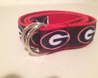 Univ of Georgia Ribbon Belt