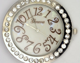 Large Watch Face | Round Watch Face | Ladies Watch Face | Crystal Watch Face | Unique Watch Face | Beading Watch Face | Watch Face - WF00139