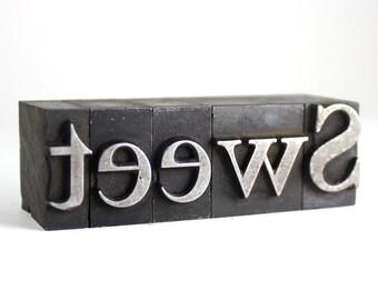 SWEET - 60pt Vintage Metal Letterpress
