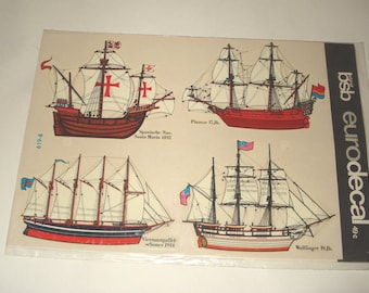 Eurodecals BSB Vintage Decals Sailing Ships New Old Stock