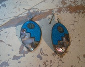 70s abalone south western earrings