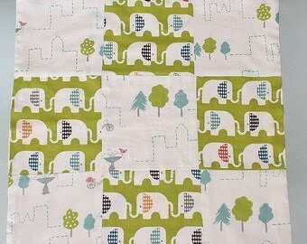 Organic Cotton Baby Lovey Tag Patchwork Blanket