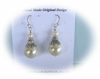 Pearl Earrings - Creamy White Classic Wedding Earrings