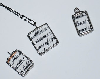 Pendants made from Recycled Absolut Vodka Bottle