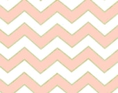Michael Miller - Chic Chevron Pearlized in Blush