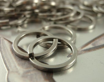50 Handmade Surgical Stainless Steel SQUARE Jump Rings - 16 or 14 gauge - You Pick Diameter