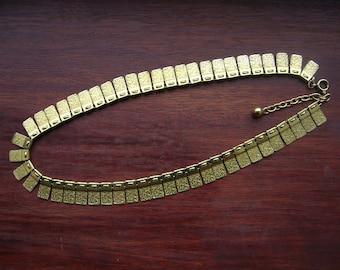 Vintage Modernist Rolled Gold or Gold Fill Necklace