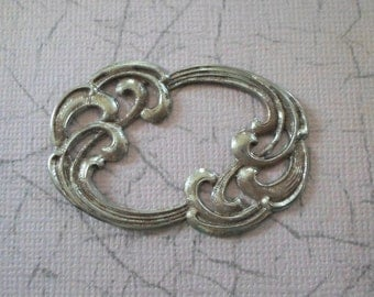 Vintage Art Nouveau Swirl Stamping - Open Design