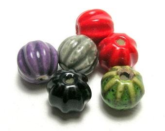 Coloured Ceramic Lantern Mixed Beads Set (a)