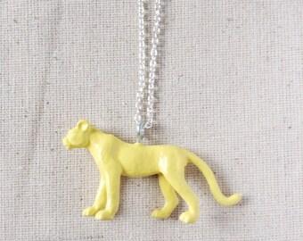 Toy Cheetah Critter Necklace - Lt. Aqua