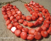 The Red Sea, multistrand bamboo coral necklace