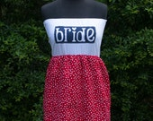 Cherry Red/White BRIDE to be dress
