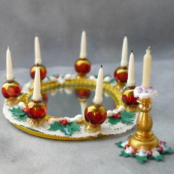 Items Similar To Dollhouse Miniature CHRISTMAS Centerpiece