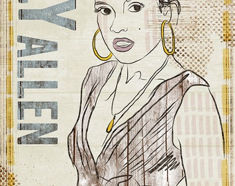 Lily Allen Poster - Limited Edition of 100