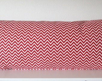 Pillow Cover - Red lipstick - Red Chevron - Zig zag - Cushion Cover