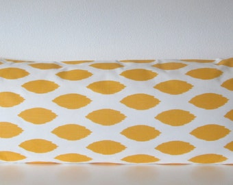 Pillow Cover - Yellow Ikat - navette print - Cushion Cover