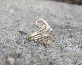 Gold Filled Small Swirl Tragus Ear Cuff