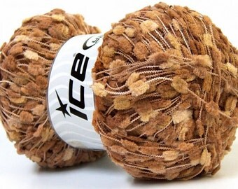 KNOTS brown shades light dark ice yarns 100gr micro fiber 3 light DK worsted pompom type 273 yrds  ships from usa 27601