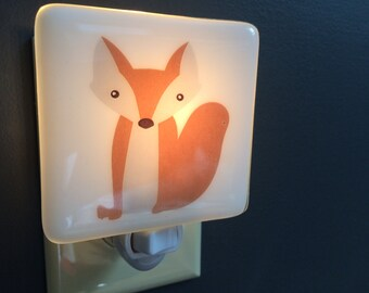 Fox Fused Glass Nightlight