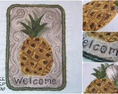 Punch Needle Pattern - Colonial Pineapple - #PN513 - Needlepunch Embroidery