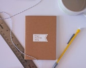 Stocking Stuffer Mini Notebook Coworker Gift Friend Gift Cute Kraft Jotter Recycled