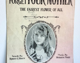 Vintage Music Sheet for Don't Forget Your Mother