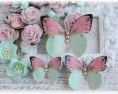 Daydreams  Butterfly Embellishments for Scrapbooking or Cardmaking, Tag Art,  Mixed Media, Mini Albums