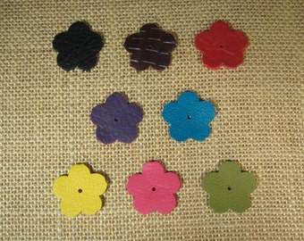 Leather Flowers - Precut - 1 Inch Diameter - Choose Your Quantity