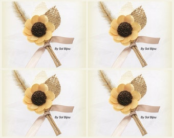 Rustic Boutonnieres, Beige, Ivory, Button Hole, Corsage, Groom, Groomsmen, Rustic Boutonniere, Shabby Chic, Rustic Wedding, Elegant, Wheat