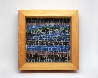 Handmade Mosaic with smalti tiles - home decor - Night sky