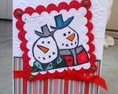 Christmas Card - Snowmen Joy
