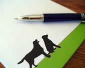 Black Labs Personalized Notepad - Labrador Retriever Memo Note Pad - Jotter - Dog Silhouette Personalized Stationary Gift