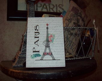 Eiffel Tower block,Paris decor,Paris theme,Paris party decor,Paris bedroom decor,Paris nursery decor,Paris baby shower