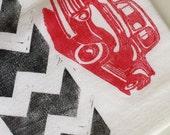 Dish Towel, Tea Towel, Bar Towel / 1949 Vintage Ford Truck/ Gifts for Men