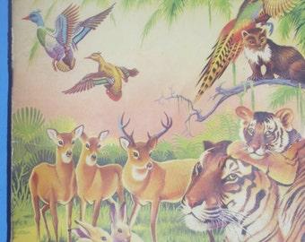 Vintage Wonders if the Animal Kingdom Album of Stamps / Complete