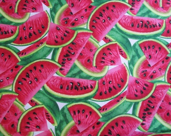Timeless Treasure Watermelon Slices Fabric, yards