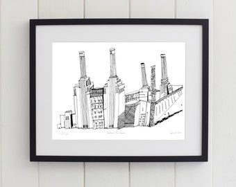 Battersea Power Station, London Print