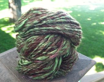 Clover Fields Handspun Yarn- 80 yards Wool and Soy Silk