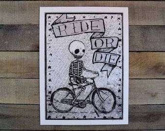 Ride or Die Screen Printed poster SILVER