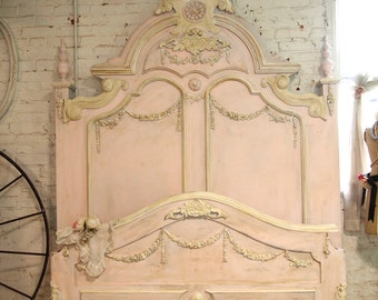 Painted Cottage Chic Shabby French Bed BD21
