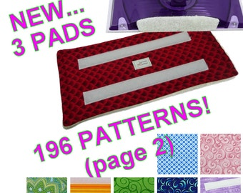 3 pads (Page 2 of 3 for 196 Patterns), Reusable Swiffer Wet Jet pad, Fabric, Velrco, WetJet Pad Terry Cloth EcoSwift EcoGreen Swifter Pads