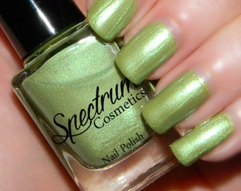 SEA GLASS  Shimmer Green Nail Polish