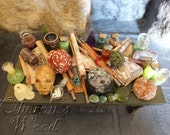 Alchemy Potion Table, Witch and Wizard Accessories, Green Shades