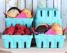 Small Berry Baskets, Farmer's Market Baskets, Muffin Baskets, Cookie Baskets, Candy Baskets, Mini Easter Baskets, Half Pint Baskets (8)