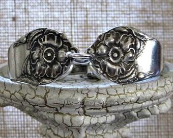Spoon Bracelet, vintage silverplate antique spoon bracelet